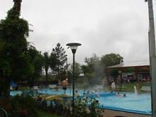 piscina de las termas del dayman en invierno